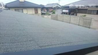 屋根エコグラーニ葺き完了