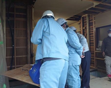 耐震改修工事 中間検査
