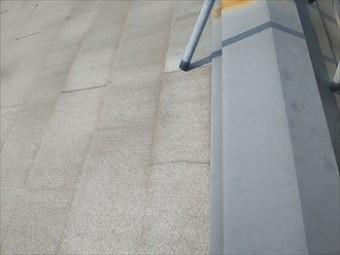 スレート屋根 ひび 補修前