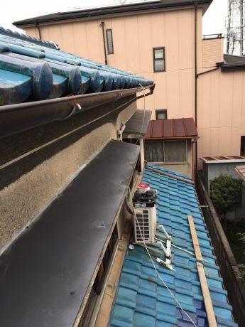 軒樋・庇鋼板改修完了