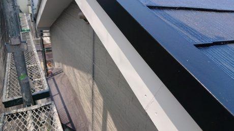 破風・水切りコーナー塗装状況