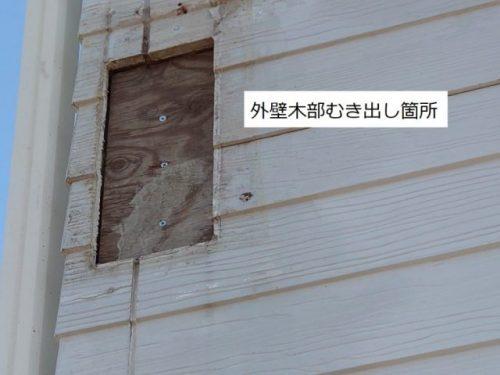 外壁木部むき出し箇所