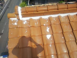 屋根 漆喰補修前