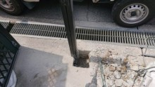 門扉柱撤去と基礎