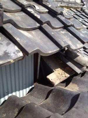 屋根取り合い部分板金 張り替え完了
