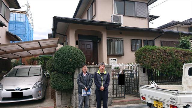 和泉市にて台風で棟板金改修・外壁屋根塗装工事を行ったY様の声