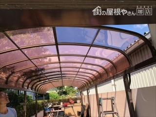 カーポート屋根 完了