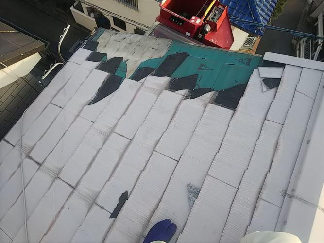 屋根材飛散箇所