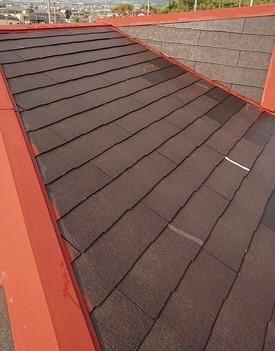 屋根塗装 下塗り完了 コロニアル