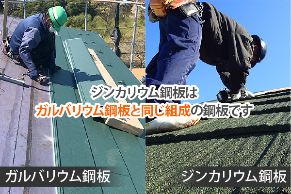 ジンカリウム鋼板とガルバリウム鋼板は同じ組成の鋼板